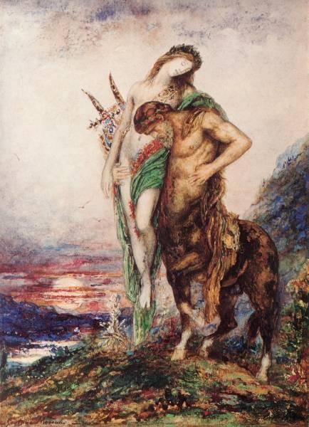 Moreau The Dead Poet Borne by a Centaur